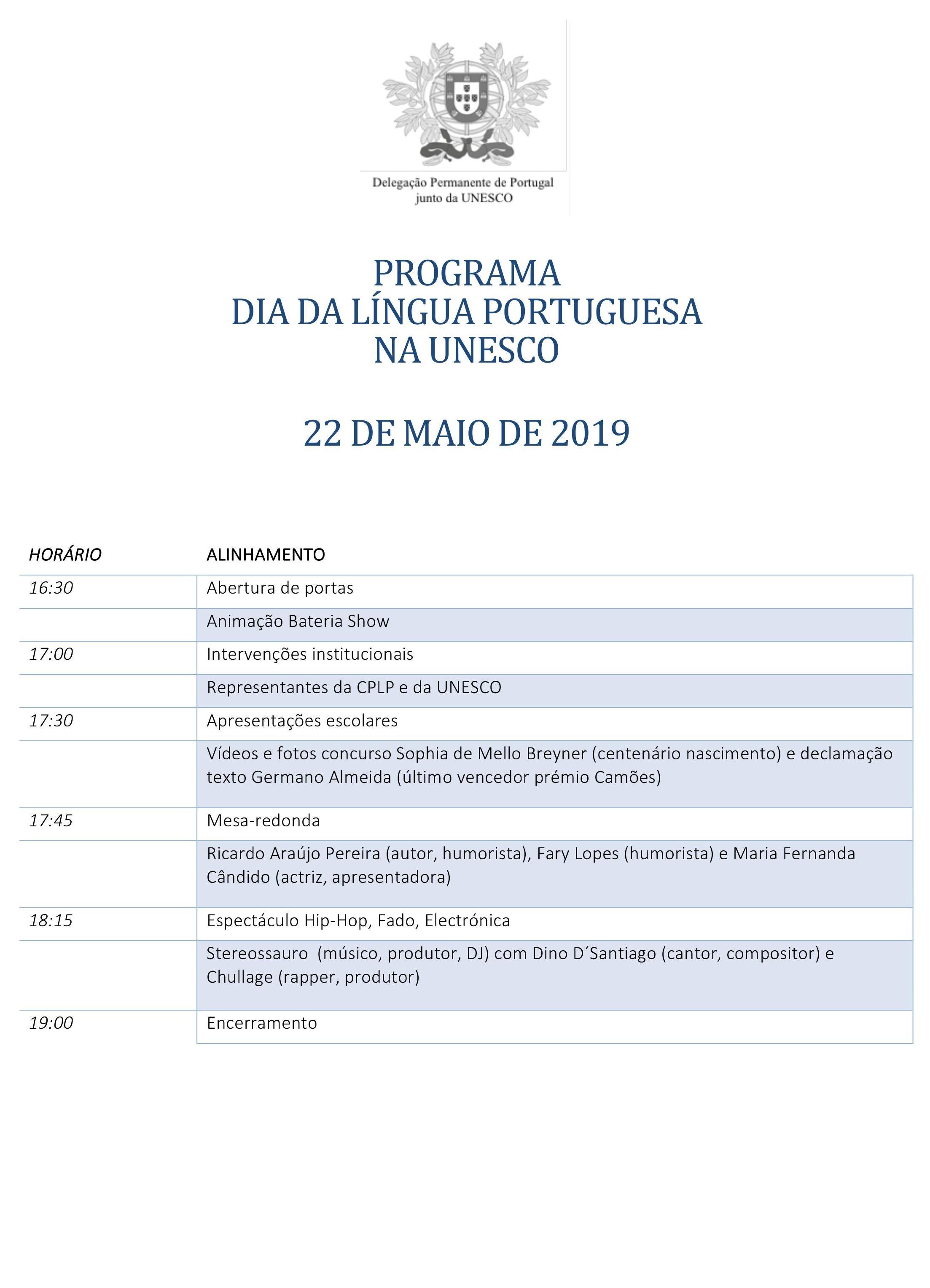 Programa DLP UNESCO 2019